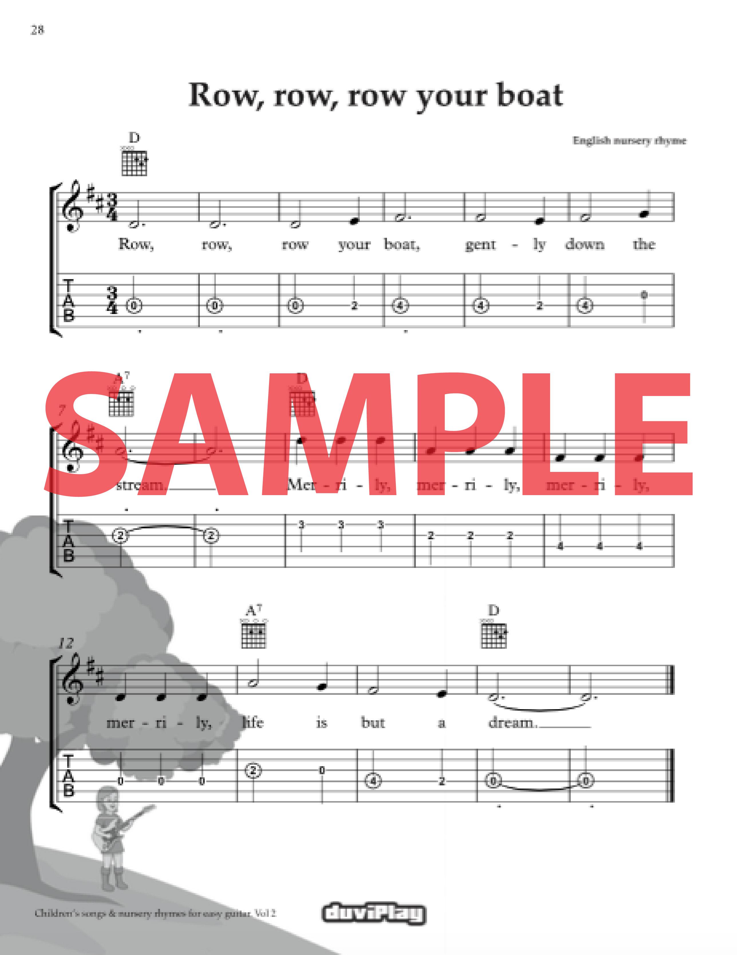 Children S Songs Nursery Rhymes For Easy Guitar Vol 2 Duviplay